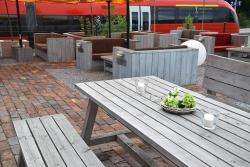 Stattstrand Außenbereich Lounge